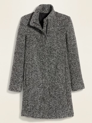 Old Navy Oversized Soft-Brushed Textured Funnel-Neck Coat for Women