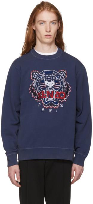 6617dd4fc7 Navy Bleached Tiger Sweatshirt