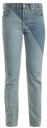 Vetements X Levi's Cross-cut Slim-leg Jeans - Womens - Denim