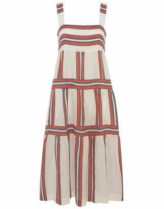 Three Graces London Kitty Ankle Length Parasol Stripe Dress