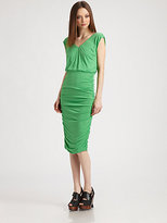 Alice + Olivia Mid-Length Ruched Dress