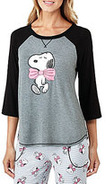Peanuts Snoopy with Bow Jersey Sleep Top