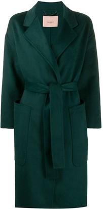 Twin-Set Oversized Wrap-Style Coat
