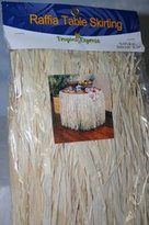 Fun Express Natural Raffia Flowered Table Skirt (1 Per Package)