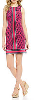 MICHAEL Michael Kors Graphic Mamba Border Print Matte Jersey Dress