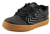 DC Tonik Kb Youth Round Toe Leather Black Sneakers.
