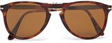 Persol - 714 Foldable D-frame Tortoiseshell Acetate Sunglasses