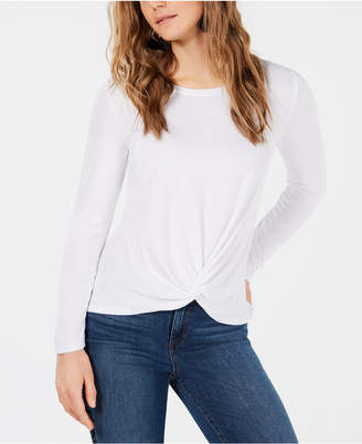 Style&Co. Style & Co Petite Twist-Front Draped Top
