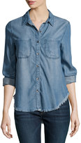 Velvet Heart Kenza Long-Sleeve Chambray Blouse, Indigo-106