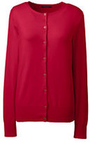 Classic Women's Petite Supima Cotton Cardigan Sweater-Gemstone Teal