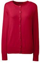 Classic Women's Supima Cotton Cardigan Sweater-Burgundy Jacquard