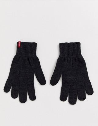 Levi's Ben touchscreen gloves in dark grey