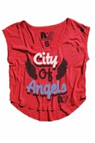 Rebel Yell City of Angels Muscle Tee in Heather Red