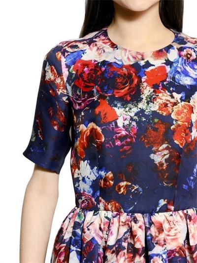 MSGM Printed Silk Gazar Dress