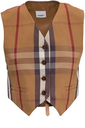 Burberry Vintage Check Cropped Waistcoat