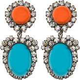 Kenneth Jay Lane Coral Cabochon Earrings