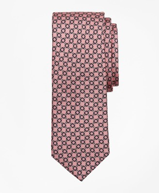Brooks Brothers Square Chain Link Print Tie