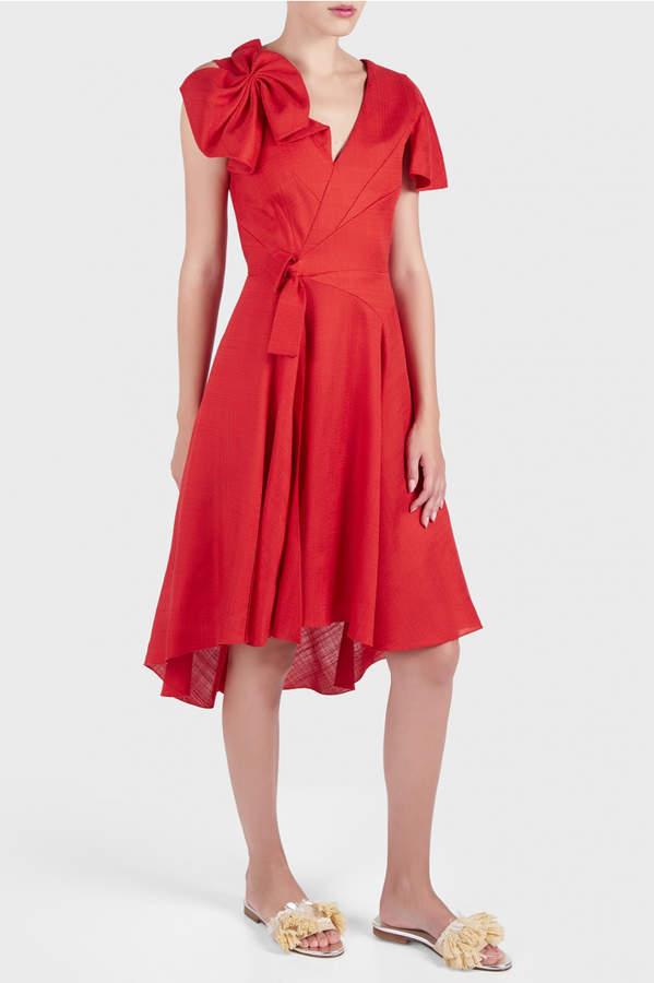DELPOZO Short Asymmetric Dress