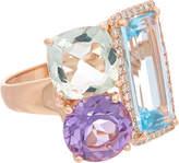 Effy Fine Jewelry 14K Rose Gold 9.93 Ct. Tw. Diamond & Gemstone Ring