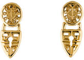 Givenchy Cutout Logo Drop Clip-On Earrings