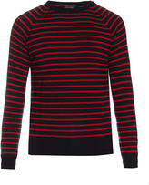 Marc Jacobs Stevie crew-neck striped wool sweater