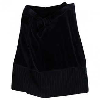 Sonia Rykiel Navy Velvet Skirt for Women