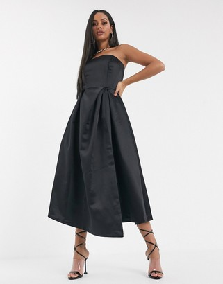 Closet London Closet strapless dress-Black