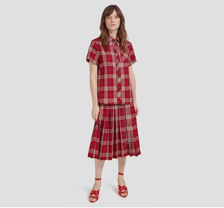 Mulberry Spencer Skirt Scarlet Tartan Check