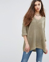 Noisy May Vera V Neck Knit Sweater