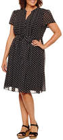 MSK Short Sleeve Shirt Dress-Plus