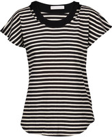 Kain Label Ula cutout striped modal T-shirt