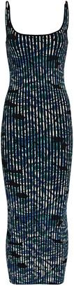 Paco Rabanne Floral Knit Midi Dress