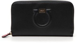 Salvatore Ferragamo Gancio Continental Zip Around Wallet