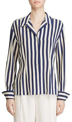 Ralph Lauren Vanna Striped Silk Blouse