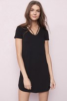 Garage V-Neck Strappy T-Shirt Dress