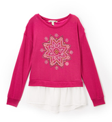 Speechless Magenta Medallion Sweater - Girls