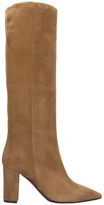 The Seller High Heels Boots In Beige Suede