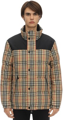 Burberry Reversible Check Techno Down Jacket