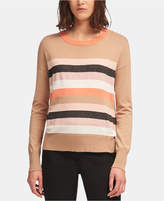 Dkny Colorblocked Striped Sweater
