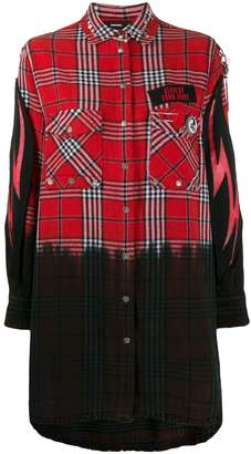 Diesel check shirt dress