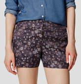 "LOFT Petite Botanic Riviera Shorts with 3 1/2"" Inseam"