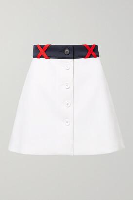 Miu Miu Ponte Mini Skirt - White