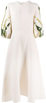 Valentino Embroidered Crepe Couture Dress