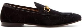 Gucci Jordaan Velvet Loafers - Mens - Black
