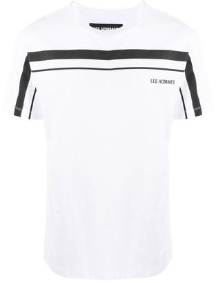Les Hommes short-sleeve printed logo T-shirt