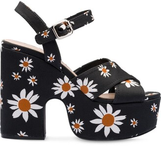 Miu Miu Daisy Gabardine Sandals