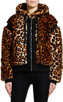 Giambattista Valli Animal-Print Faux-Fur Bomber Jacket