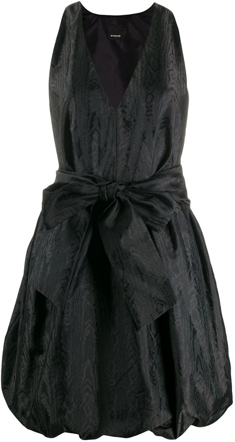 Pinko Belted Balloon-Style Dress