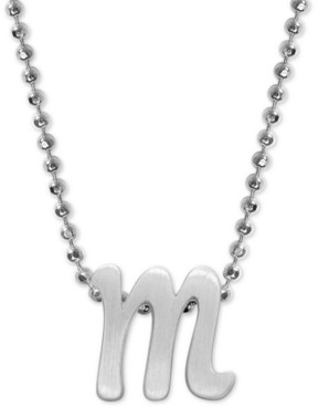 """Alex Woo Lowercase Initial 16"""" Pendant Necklace in Sterling Silver"""
