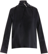 Marques Almeida Silk Buckle Neck Blouse